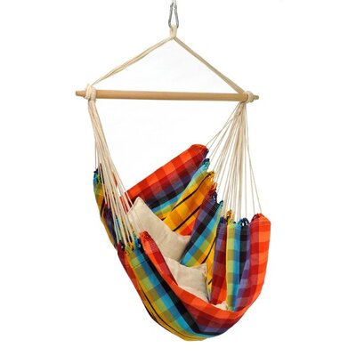 Brazil Cotton Chair Hammock Color: Rainbow
