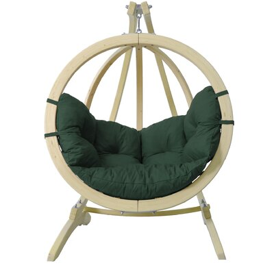 Kids Acrylic Swing Chair Color: Green