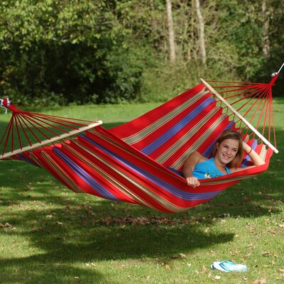 Aruba Cotton and Polyester Camping Hammock Color: Red