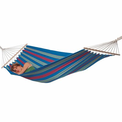 Aruba Cotton and Polyester Camping Hammock Color: Blue
