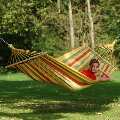 Aruba Cotton and Polyester Camping Hammock Color: Yellow