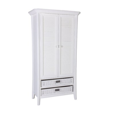 Plantation Armoire Finish: Classic White