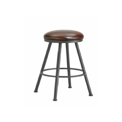 Alexander 26  Swivel Bar Stool Color: Black, Upholstery: Alligator Brown