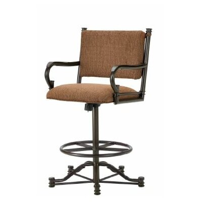 Baltimore 26 Swivel Bar Stool Color: Rust, Upholstery: Radar Nugget