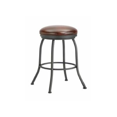 Fiesole 30 Swivel Bar Stool Color: Black, Upholstery: Alligator Brown