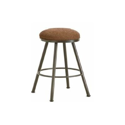 Alexander 26  Swivel Bar Stool Color: Rust, Upholstery: Radar Nugget
