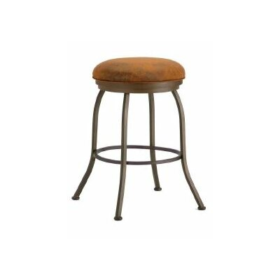 Fiesole 26 Swivel Bar Stool Color: Inca / Bronze, Upholstery: Mayflower Cocoa