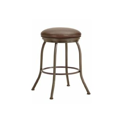 Fiesole 26 Swivel Bar Stool Finish: Rust, Upholstery: Ford Brown