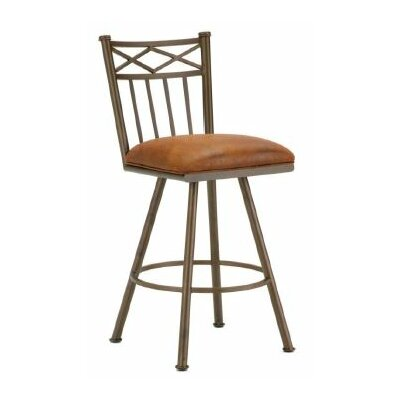Alexander 30 Swivel Bar Stool Color: Inca / Bronze, Upholstery: Mayflower Cocoa