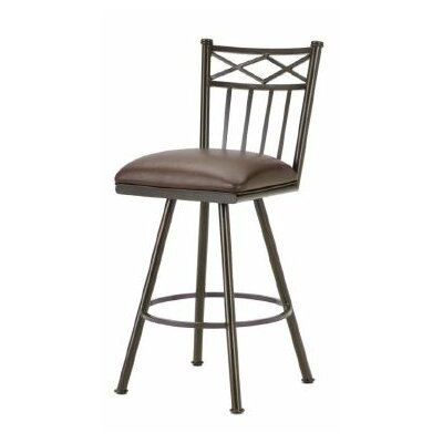 Alexander 26 Swivel Bar Stool Color: Rust, Upholstery: Ford Brown