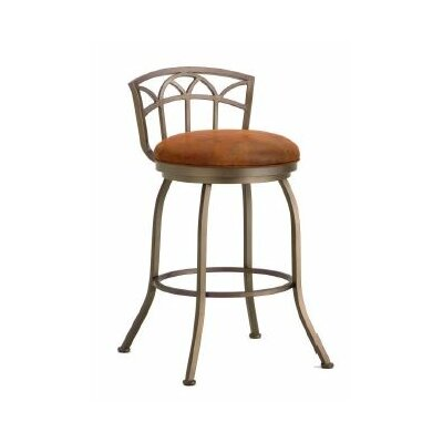 Fiesole 30 Swivel Bar Stool Finish: Inca / Bronze, Upholstery: Mayflower Cocoa