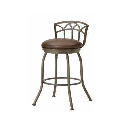 Fiesole 30 Swivel Bar Stool Color: Rust, Upholstery: Ford Brown