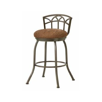 Fiesole 26 Swivel Bar Stool Color: Rust, Upholstery: Radar Nugget
