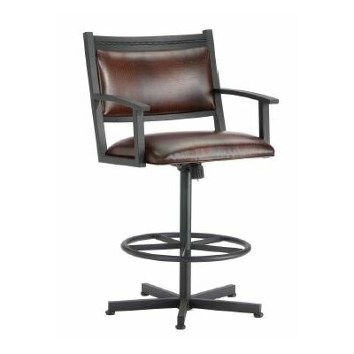 Humphrey 26 Swivel Bar Stool Finish: Black, Upholstery: Alligator Brown