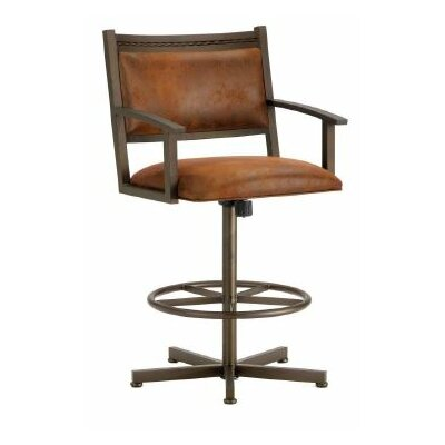 Humphrey 26 Swivel Bar Stool Color: Inca / Bronze, Upholstery: Mayflower Cocoa
