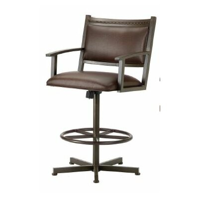 Humphrey 26 Swivel Bar Stool Color: Rust, Upholstery: Ford Brown