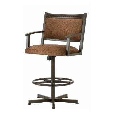 Humphrey 26 Swivel Bar Stool Color: Rust, Upholstery: Radar Nugget