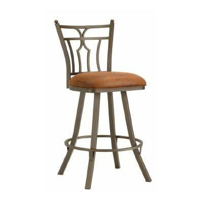 Randle 26 Swivel Bar Stool Color: Inca / Bronze, Upholstery: Mayflower Cocoa