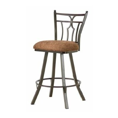 Randle 30 Swivel Bar Stool Finish: Rust, Upholstery: Radar Nugget