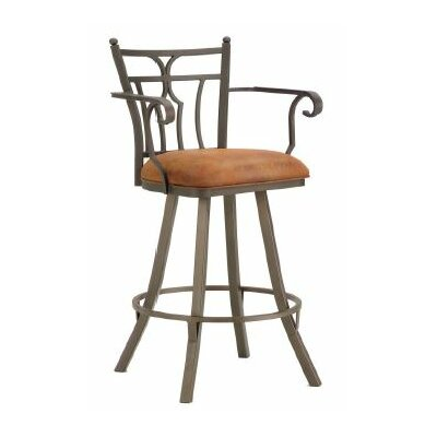 Randle 30 Swivel Bar Stool Color: Inca / Bronze, Upholstery: Mayflower Cocoa