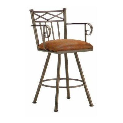 Alexander 26 Swivel Bar Stool Color: Inca / Bronze, Upholstery: Mayflower Cocoa
