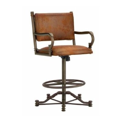 Baltimore 26 Swivel Bar Stool Finish: Inca / Bronze, Upholstery: Mayflower Cocoa