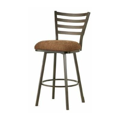 Tioga 30 Swivel Bar Stool Finish: Rust, Upholstery: Radar Nugget