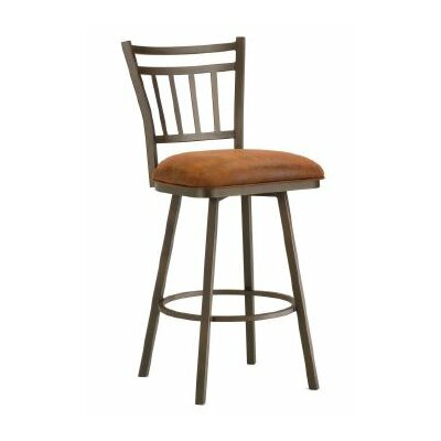 Emma 30 Swivel Bar Stool Color: Inca / Bronze, Upholstery: Mayflower Cocoa