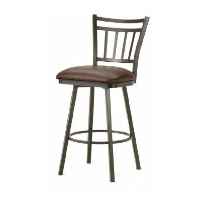 Emma 26 Swivel Bar Stool Finish: Rust, Upholstery: Ford Brown