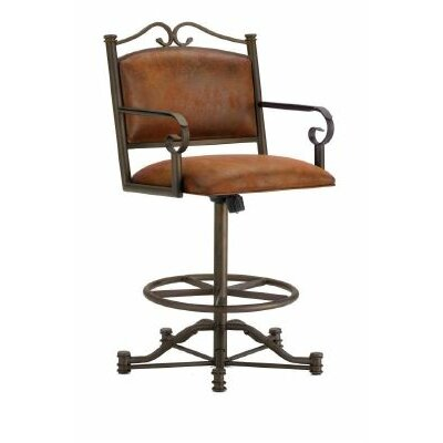 Sherwood 30 inch Swivel Bar Stool Finish: Inca / Bronze, Upholstery: Mayflower Cocoa