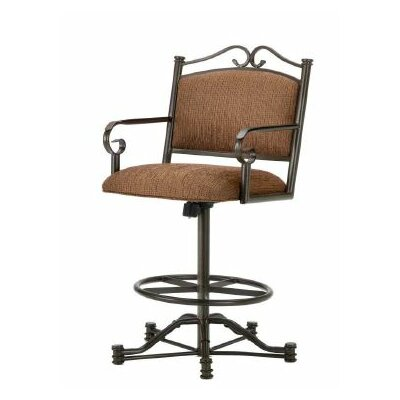 Sherwood 26 inch Swivel Bar Stool Finish: Rust, Upholstery: Radar Nugget