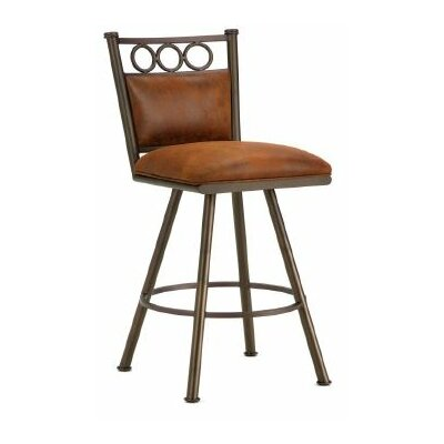 Waterson 30 Swivel Bar Stool Finish: Inca / Bronze, Upholstery: Mayflower Cocoa