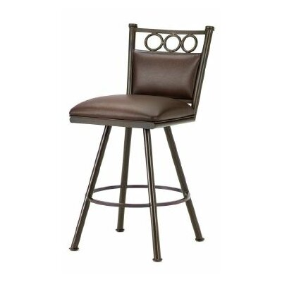 Waterson 26 Swivel Bar Stool Finish: Rust, Upholstery: Ford Brown