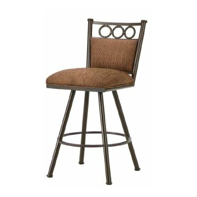 Waterson 30 Swivel Bar Stool Finish: Rust, Upholstery: Radar Nugget