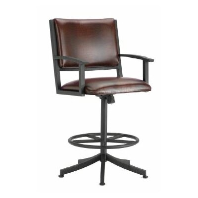 Executive 30 Swivel Bar Stool Color: Rust, Upholstery: Ford Brown
