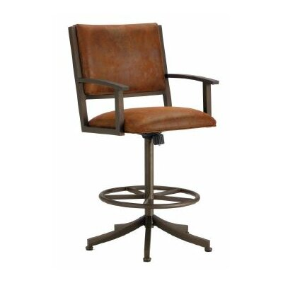 Executive 30 Swivel Bar Stool Color: Inca / Bronze, Upholstery: Mayflower Cocoa
