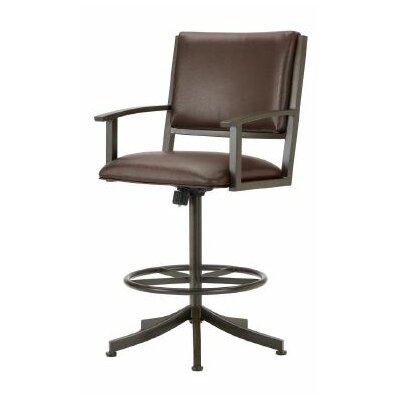 Executive 26 Swivel Bar Stool Color: Rust, Upholstery: Ford Brown