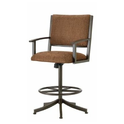 Executive 26 Swivel Bar Stool Finish: Rust, Upholstery: Radar Nugget