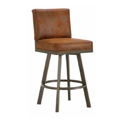 Pasadena 30 Swivel Bar Stool Color: Inca / Bronze, Upholstery: Mayflower Cocoa