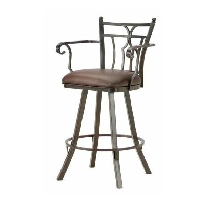 Randle 26 Swivel Bar Stool Color: Rust, Upholstery: Ford Brown
