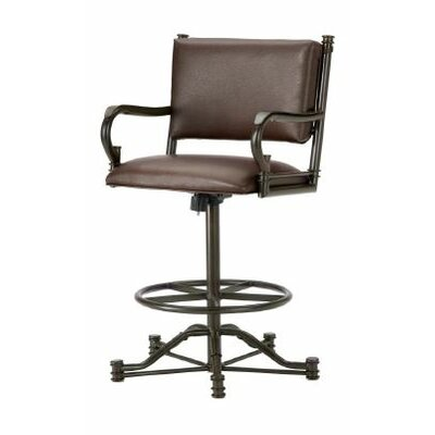 Baltimore 26 Swivel Bar Stool Finish: Rust, Upholstery: Ford Brown