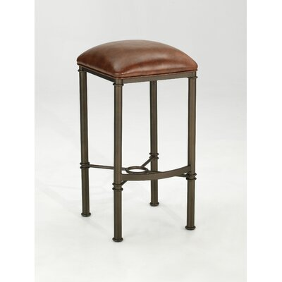 Cayson 30 Swivel Bar Stool with Cushion Finish: Silverette Seat Color: Brown image