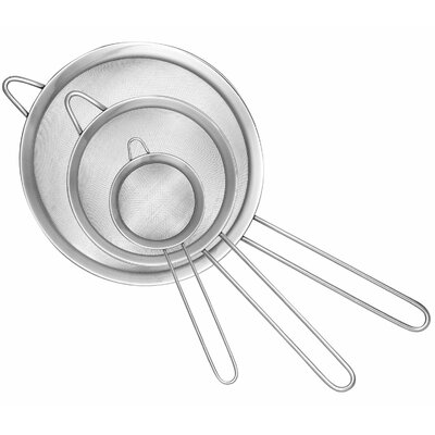 Cook N Home 3 Piece Stainless Steel Fine Mech Strainer Set
