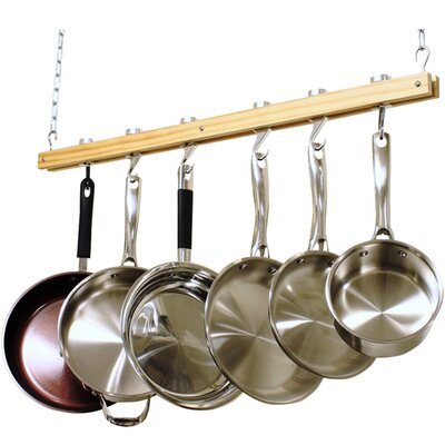 Cooks Standard Ceiling Mounted Wooden Pot Rack NC-00269