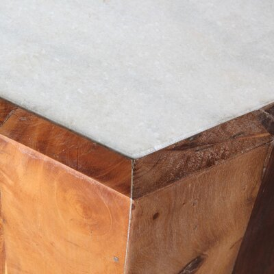 Crofoot Reclaimed Hexagon End Table