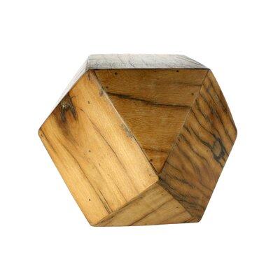 Ohboke Icosahedron Wood Block Sculpture Size: 9