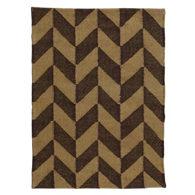 One-of-a-Kind Figueroa Handmade Kilim Brown/Beige Area Rug