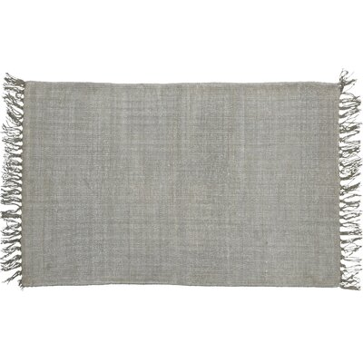 One-of-a-Kind Hogue Stonewashed Hand-woven Cotton Gray Area Rug