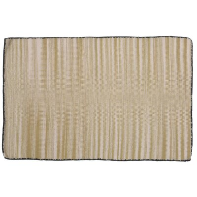 One-of-a-Kind Alonzo Hand-woven Cotton Cream Area Rug