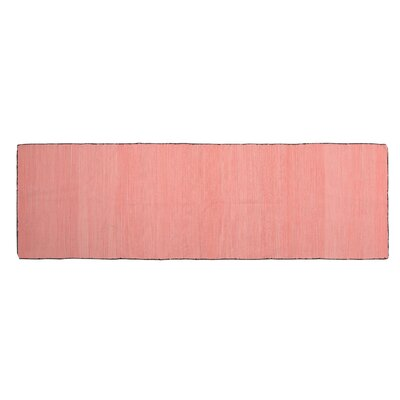 One-of-a-Kind Alonzo Hand-woven Cotton Pink Area Rug